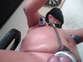 XTREME BIZARRE NIPPLE SUCTION AND VACUUM SUCTION CUPS PAIN BDSM KINKY CUM