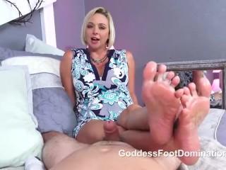 Goddess Brianna Footjob Tease and Denial