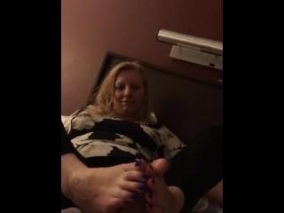 GODDESS RHONDA POV FOOTJOB & HANDJOB