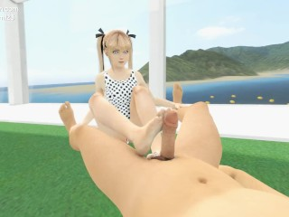Marie Rose footjob in bikini