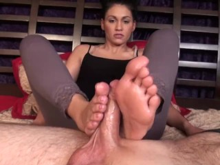 After Workout Footjob