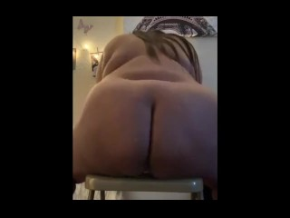 Houston thot swallowing penis in Hood Glory Hole and fucking dildo