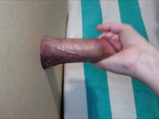 Glory hole extracting yummy spunk sample (Dripping)
