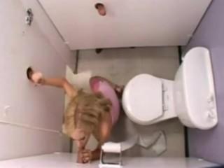 Glory Hole - slutty naughty blonde