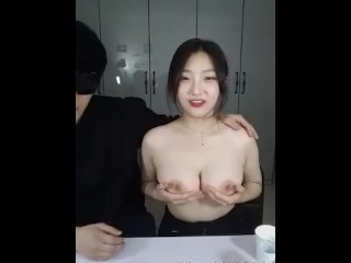 korean guy invites a blowjob with huge breasts 항공과 F컵 왕빨통