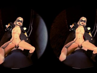 Secret Meeting with black Canary - Side Piece 360 vr porn