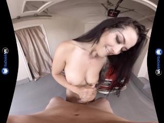 VR Porn Katrina Jade fucks POV in Mustang on BaDoinkVRcom. 180 3D