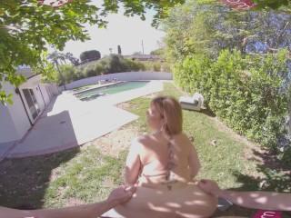 VR BANGERS lovely MILF rides Her teenie Gardener VR Porn
