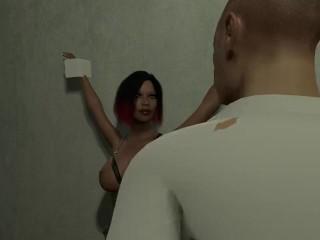 BDSM girl Elisha from Dr. Deviant VR porn game