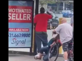 Drunk banged in a public BUS stop (FULL PORN VIDEOS: DESTYY . COM / WLJJGE)
