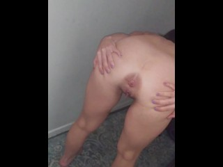 GF drunk trying to fart anus puckered