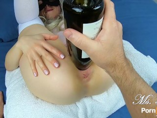 I fuck my ex-wife with a wine bottle! huge gaping snatch & bottle insertions