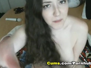 Busty Cam broad Insert enormous Dildo on Her Pink vagina