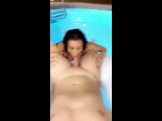 LANA RHOADES plowed IN PUBLIC POOL LEAKED PREMIUM SNAPCHAT SHOW