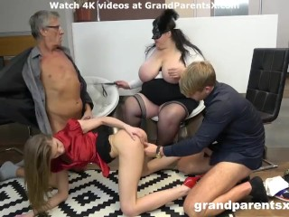 Cumloads on BBW melons cougar vs young