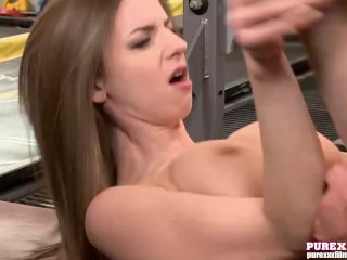 PURE XXX FILMS gorgeous Stella Cox banged at the gym