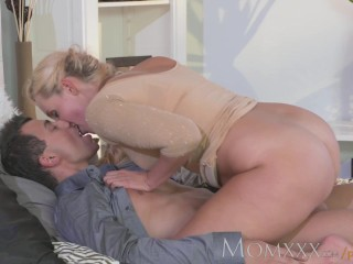 MOM ravishing MIlf blows and rides her younger lover dry