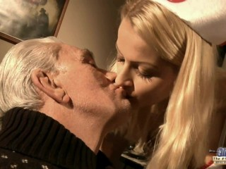 Old/young kissing compilation