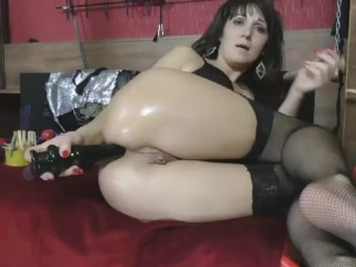 brutal anal fist slut wrecks her ass and gapes her juicy rosebud wide open