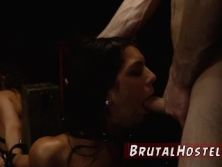 Extreme rough brutal anal pain Two