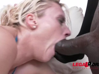 Brittany Bardot rough fuck session with balls deep DAP, fisting & pissing