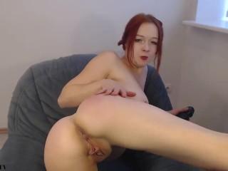 brutal anal loud gape farts pink prolapse for redhead super slut camwhore