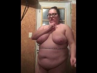 Bbw girl smoking naked