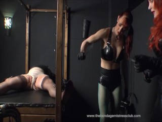 Leather and Rubber Mistresses Medical Gloves Of Holland Kink Bang