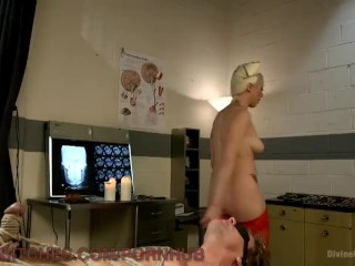 Nurse Dominatrix Punishes Small Cock