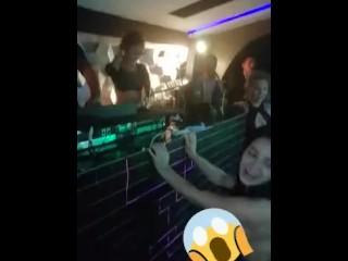 Drunk girl dancing in the disco!!