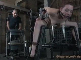 Sex Slave Bound and Fucked by Machines and Pumps