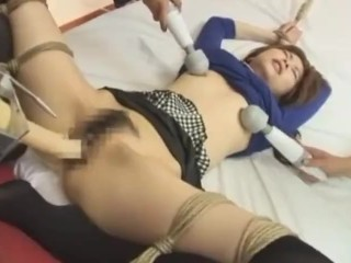 Hottest Japanese model with kneesocks and fucking machines