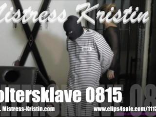 Mistress Kristin - Slave 0815 CBT Ball Busting Fucking Machine FemDom Whip