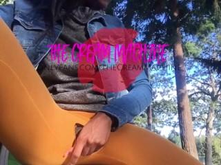 Ebony Teen Skips Class 4 Busy Park Finger Fuck