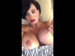 BRITTANY ELIZABETH PLAYS WITH BIG BOOBS