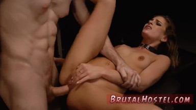Brutal slave punishment and bdsm hood Bondage, ball-gags, spanking,