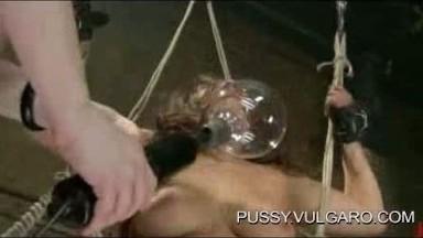 Breast bondage lezdom orgasmic BDSM