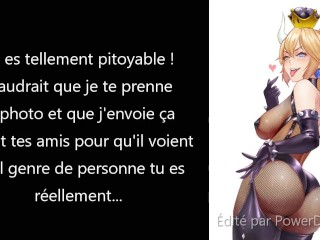 JOI Femdom Petplay Bowsette French (CEI, Anal Play, Piss play)