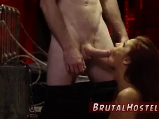 Sex Slave Tied Up and Deep throated in a hot BDSM Act!