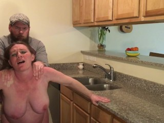 Pregnant Milf Gets Ass Fucked and Creampie by Stepson