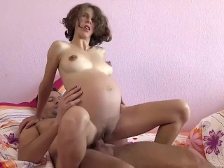 thin, busty pregnant