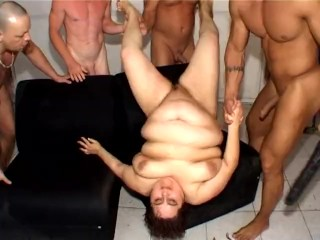 Old fat granny fisting piss gangbang