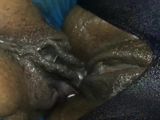 my wife and her best bestfriend super wet before our threesome