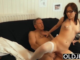Old and Young Nurse Turns Checkup into Sex and Fucks in doctor office