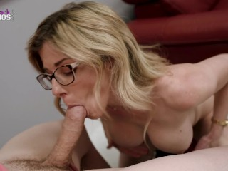 My Horny Step Mom with Huge Tits Dares Me to Get Hard - Cory Chase