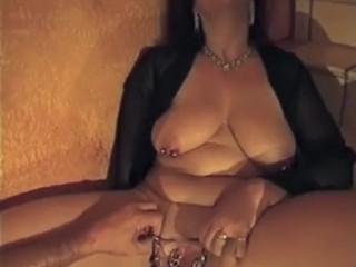 heavily pierced mature pussy deep fist