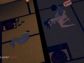 Hinata - Unfaithful, Cheating, Naruto, Japanese (3D Hentai)