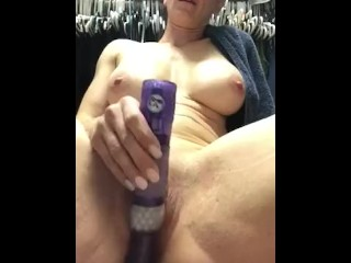 Blonde milf masturbate while husband away