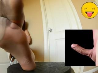 nylon feet sniff intense smelling pantyhose girl worschip foot 80