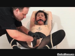 Japanese pussy stapling torture and extreme dental gagged needle bdsm